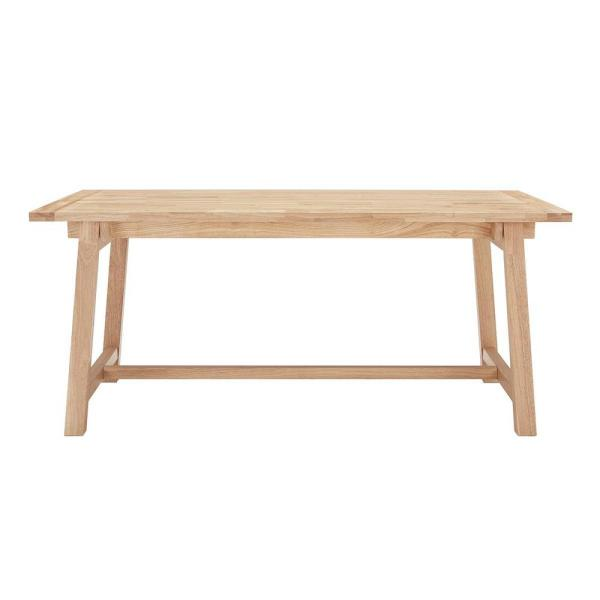 Unfinished Wood Rectangular Trestle Table for 6 (68 in. L x 29.75 in. H)