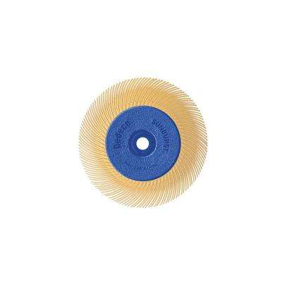 Sunburst - 6 in. TC Radial Discs - 1/2 in. Arbor - Thermoplastic Cleaning and Polishing Tool, X-Fine 6 Micron (1-Pack)