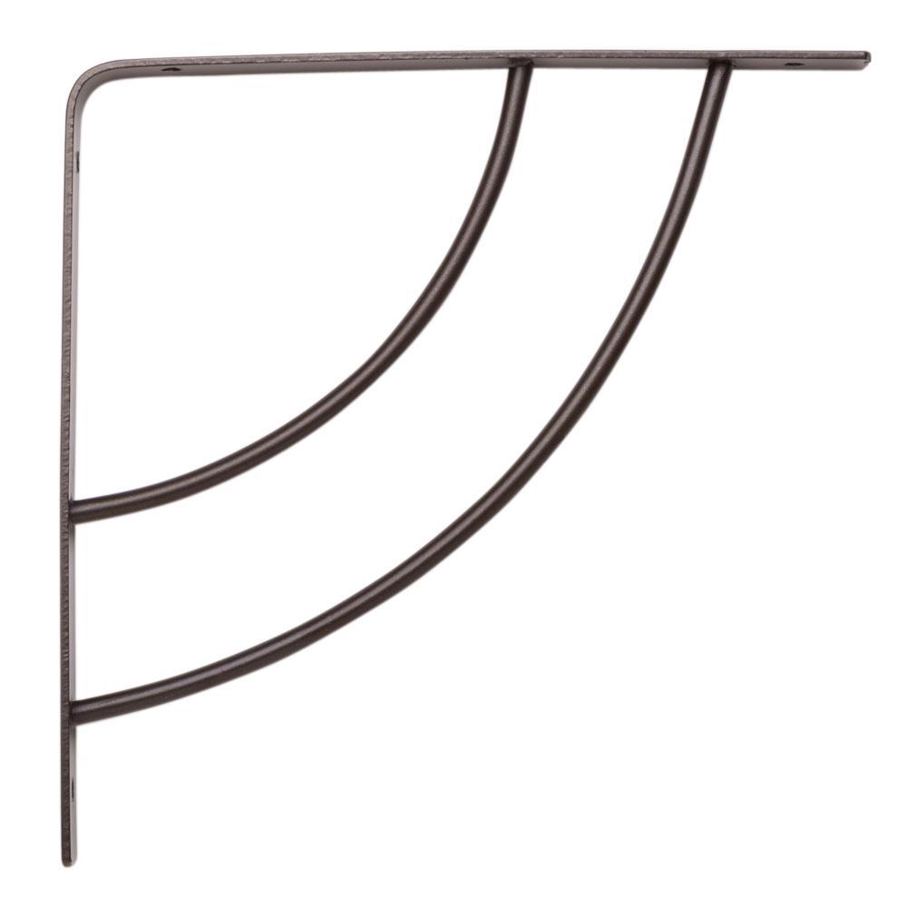 Knape & Vogt Milano 8 in. x .75 in. Bronze 25 lb. Decorative Shelf Bracket
