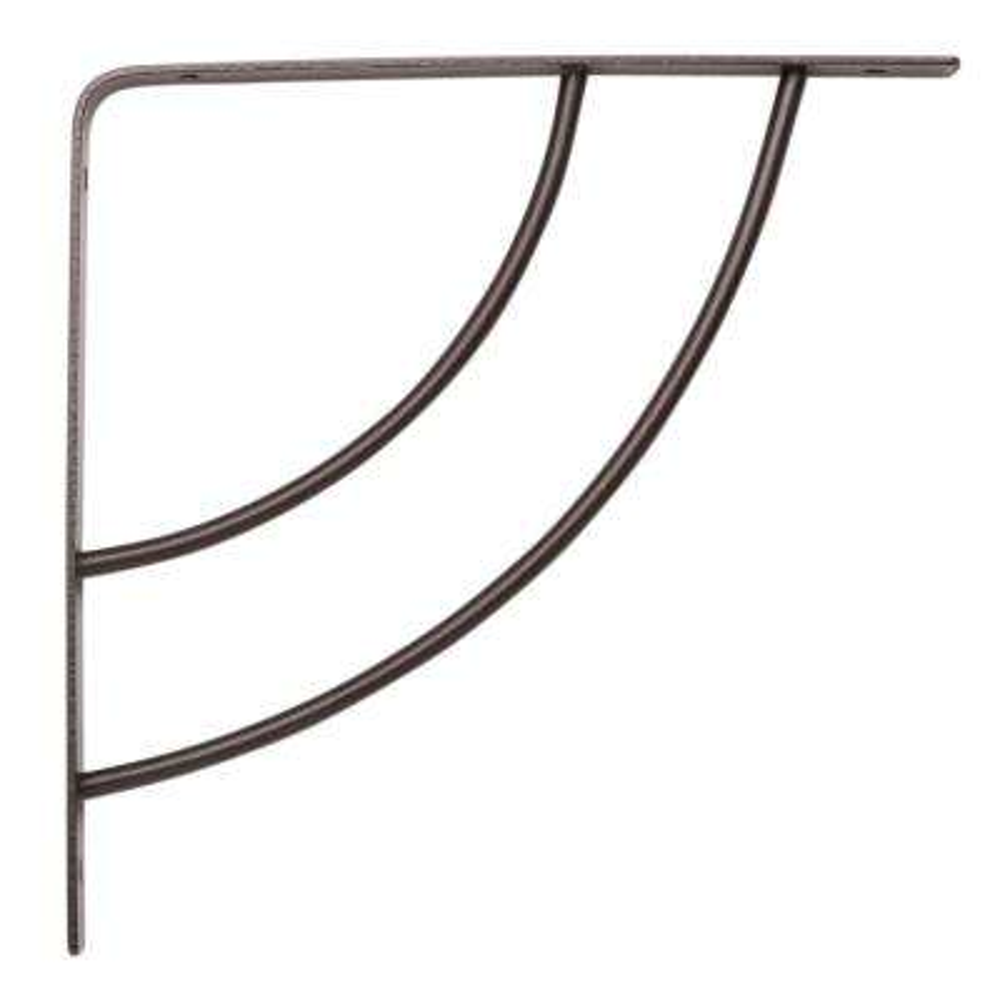 Milano 8 in. x .75 in. Bronze 25 lb. Decorative Shelf Bracket