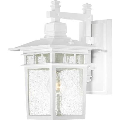 Connor 1-Light White Outdoor Wall Lantern Sconce