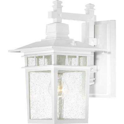 Connor 1-Light White Outdoor Wall Mount Sconce