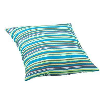 Multicolor stripe Puppy Large Outdoor Throw Pillow