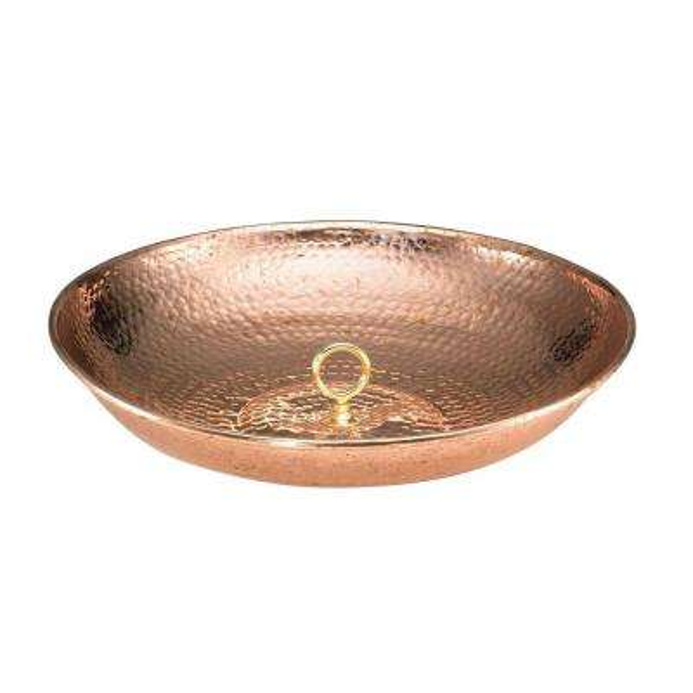 Rain Chain Basin - Polished Copper