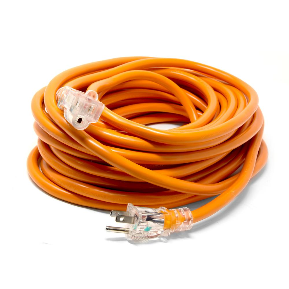 Extension Cord Reel 50 ft 14 Gauge SJTW Outdoor NEMA 5-15R LightUp Power Outlet