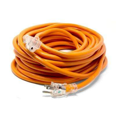 50 ft. 12-Gauge Heavy-Duty SJTW Outdoor 12/3 Extension Cord with NEMA 5-15R Light-Up Power Outlet