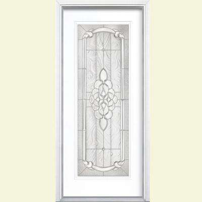 36 in. x 80 in. Oakville Full Lite Pure White Right-Hand Painted Smooth Fiberglass Prehung Front Door w/ Brickmold