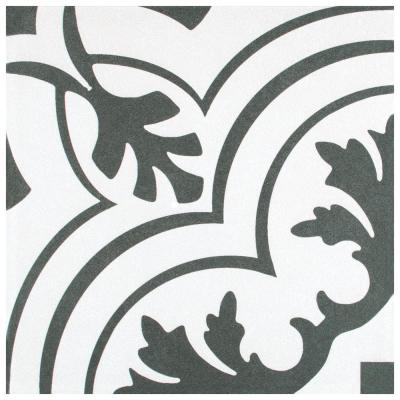 Take Home Tile Sample - Twenties Vintage Encaustic Ceramic Floor and Wall Tile - 7-3/4 in. x 7-3/4 in.