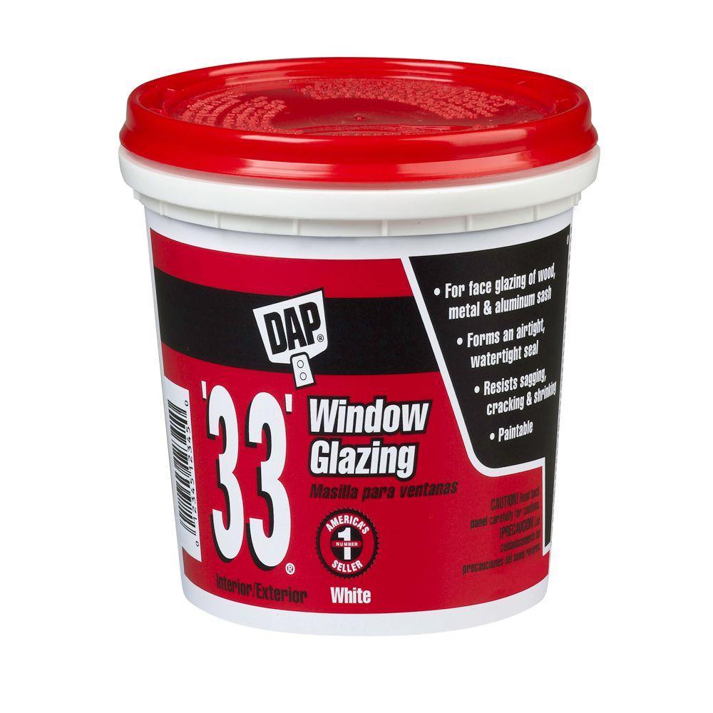 33 16 oz. White Ready-to-Use Window Glazing (12-Pack)