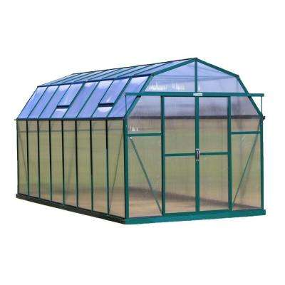 Elite 8 ft. W x 16 ft. D x 8 ft. H Heavy-Duty Aluminum Greenhouse Kit