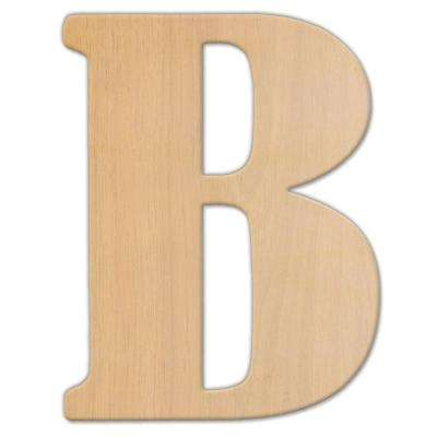 15 in. Oversized Unfinished Wood Letter (B)