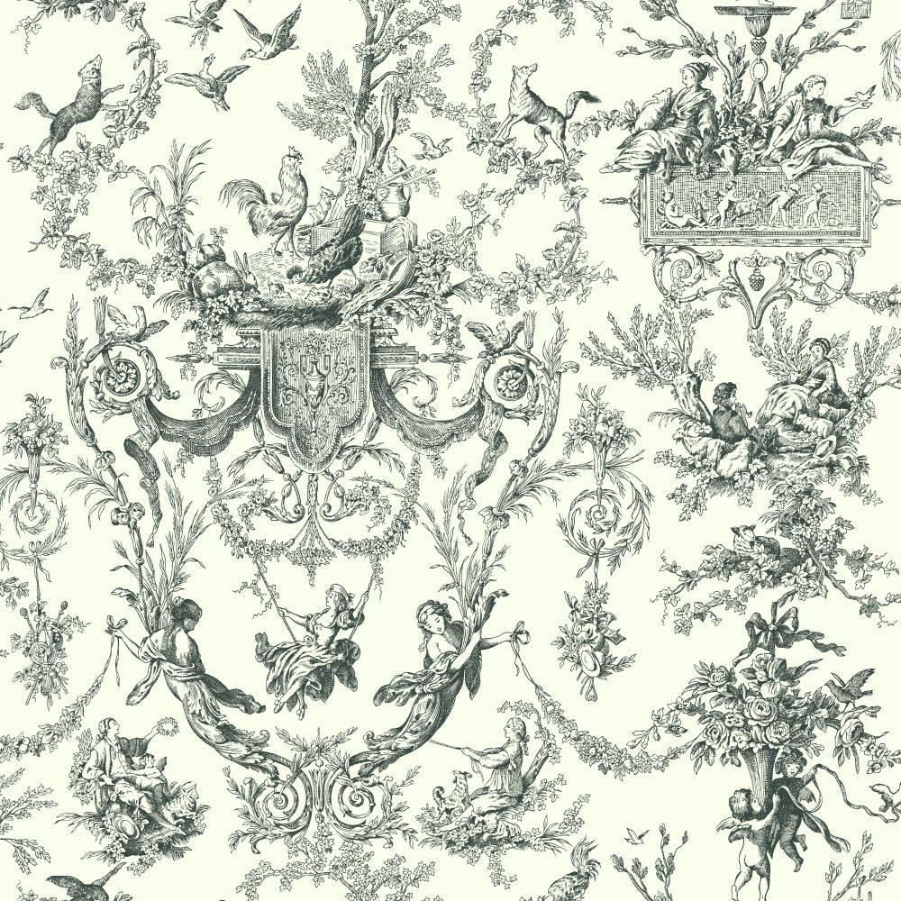 Nice York Wallcoverings Old World Toile Wallpaper
