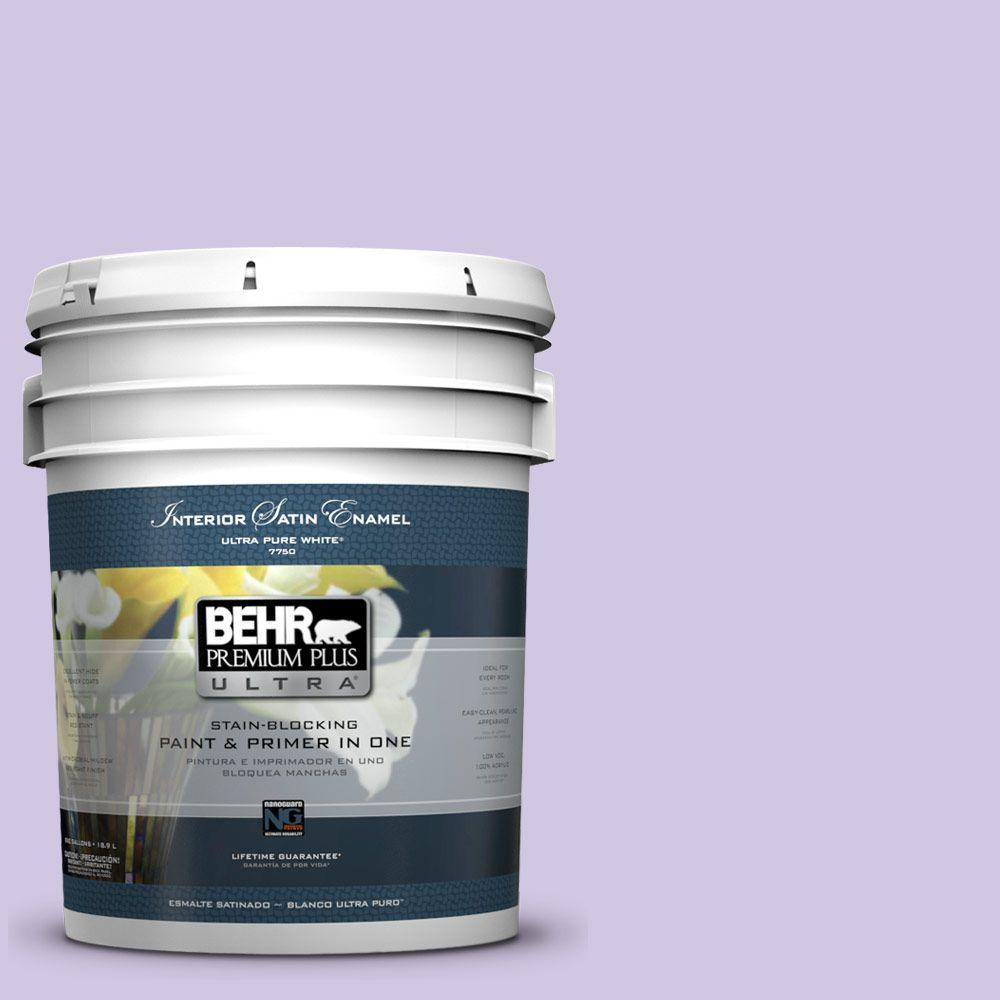 BEHR Premium Plus Ultra 5-gal. #650C-3 Light Mulberry Satin Enamel Interior Paint