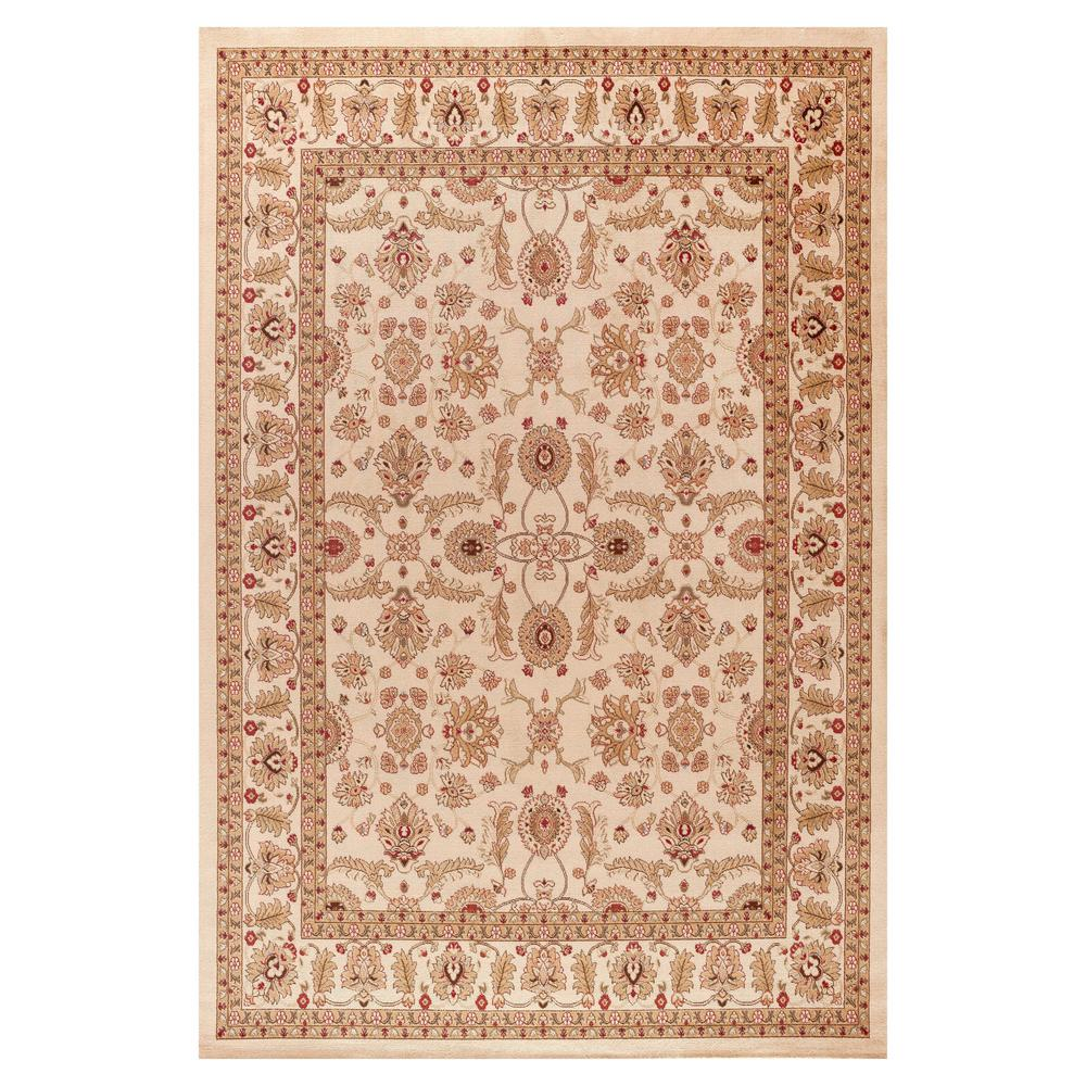 Concord Global Trading Jewel Antep Ivory 3 ft. 11 in. x 5 ft. 7 in. Area Rug