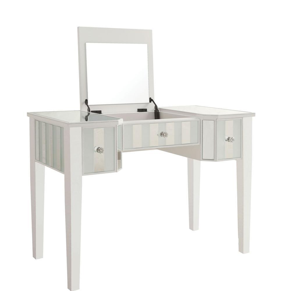 Stevens 2-Piece White Vanity Set