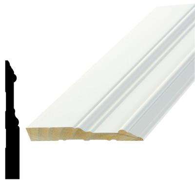 WP 5709 5/8 in. x 5-1/4 in. x 96 in. Primed Pine Finger-Jointed Base Moulding
