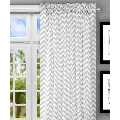 Reston 50 in. W x 84 in. L Sterling Cotton Tailored Curtain Panel