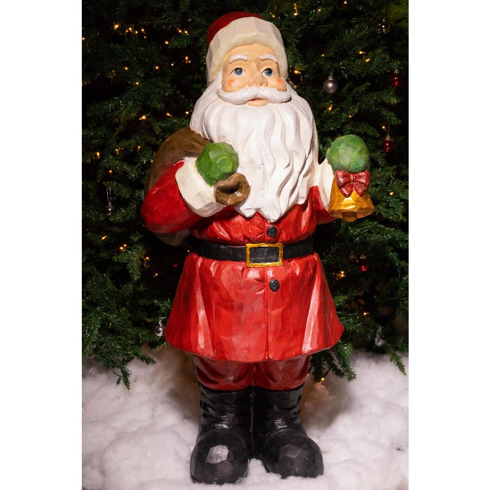 alpine 45 in santa statue - Is Home Depot Open On Christmas Eve