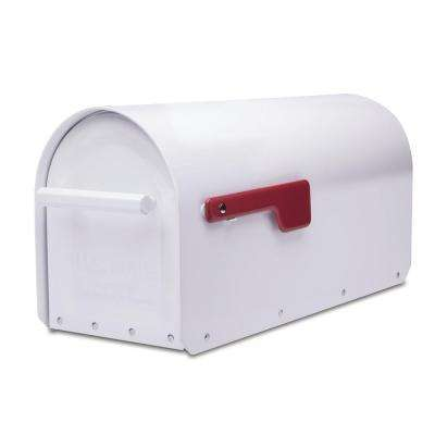 Sequoia White Heavy Duty Post Mount Mailbox