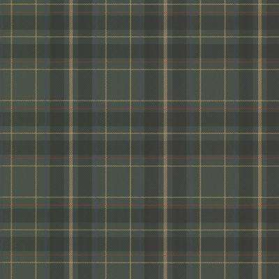 56.4 sq. ft. Caledonia Dark Green Plaid Wallpaper