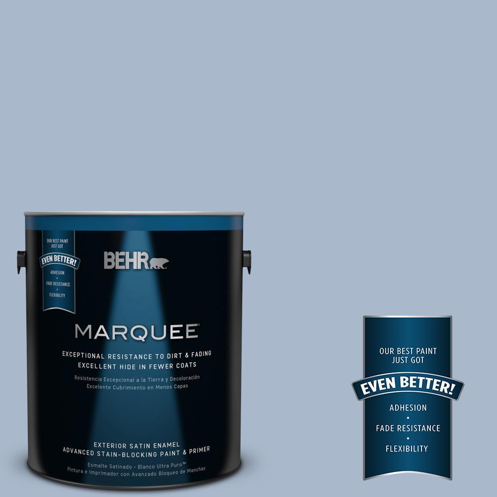 BEHR MARQUEE 1-gal. #HDC-SP14-10 Blue Tribute Satin Enamel Exterior Paint