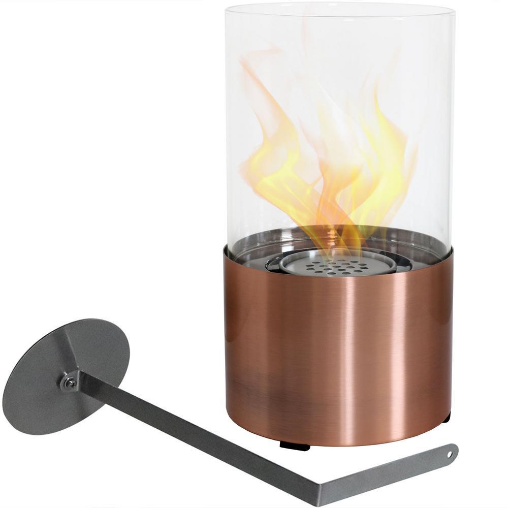 Fiammata 11.5 in. Bio-Ethanol Tabletop Fireplace in Copper