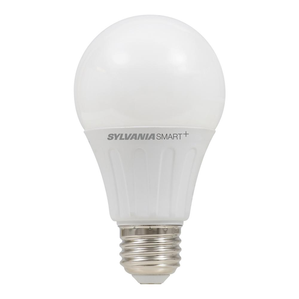 Sylvania smart zigbee soft white dimmable a19 led smart light bulb 74283 the home depot Sylvania bulbs