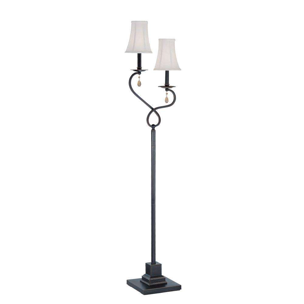 Illumine 63 in. Dark Bronze Floor Lamp