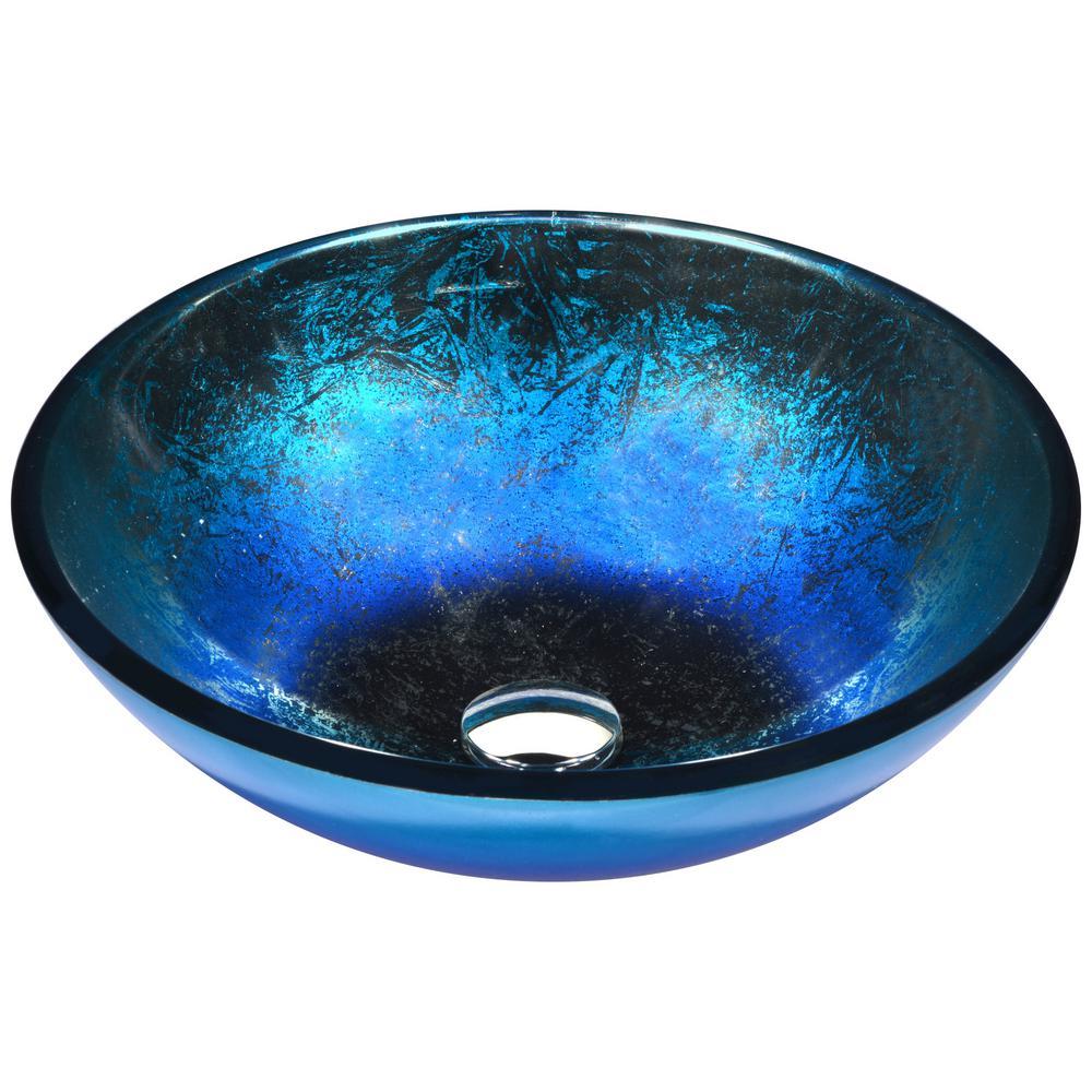 Oceana Series Vessel Sink in Blue