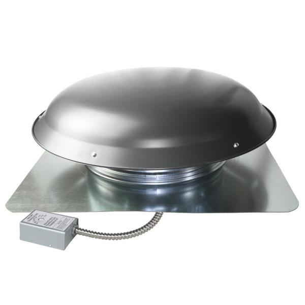 Ventamatic Cool Attic 1080 Cfm Weathered Grey Galvanized Steel Power Attic Roof Ventilator Cx1000amwgups The Home Depot