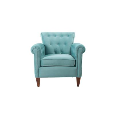 Giovanni Arctic Blue Tufted Accent Chair