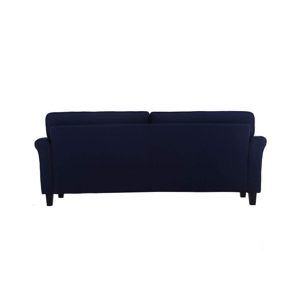 Lifestyle Solutions Harlem Blue Mid Century Modern 3-Seater Sofa ...