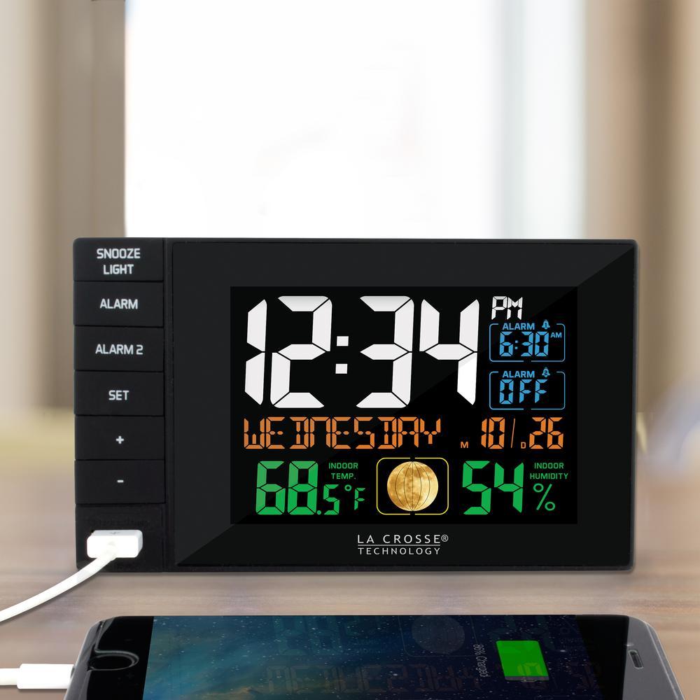 La Crosse Technology Multi-Color 6 in. x 4 in. Dual Alarm...