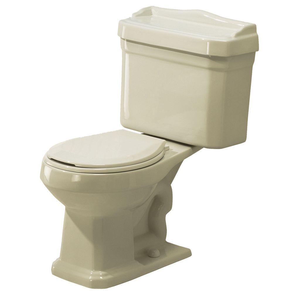 Foremost Series 1930 2-Piece 1.6 GPF Round Toilet in Biscuit