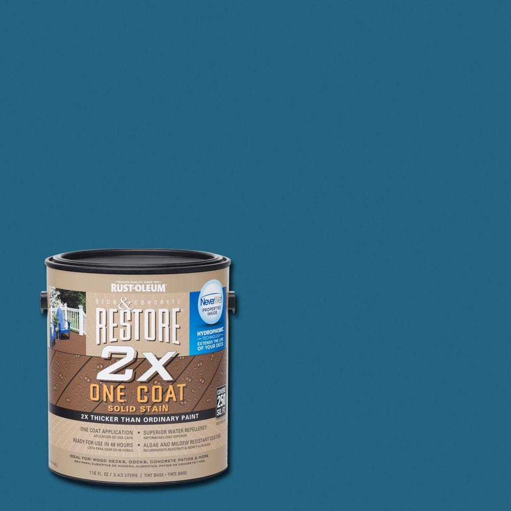 1 gal. 2X Lagoon Solid Deck Stain with NeverWet