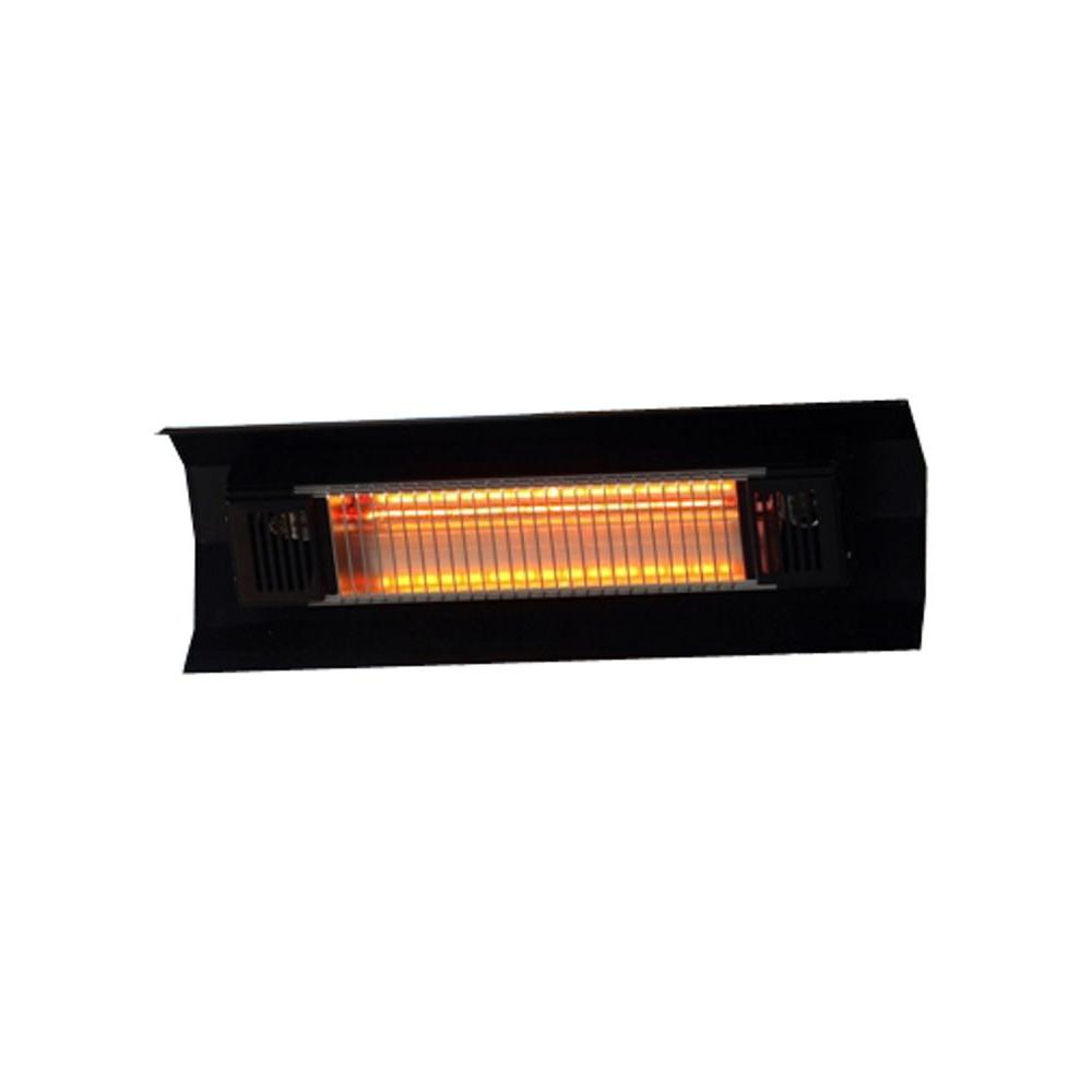 Fire Sense 1 500 Watt Black Wall Mounted Infrared Electric Patio Heater 60460 The Home Depot