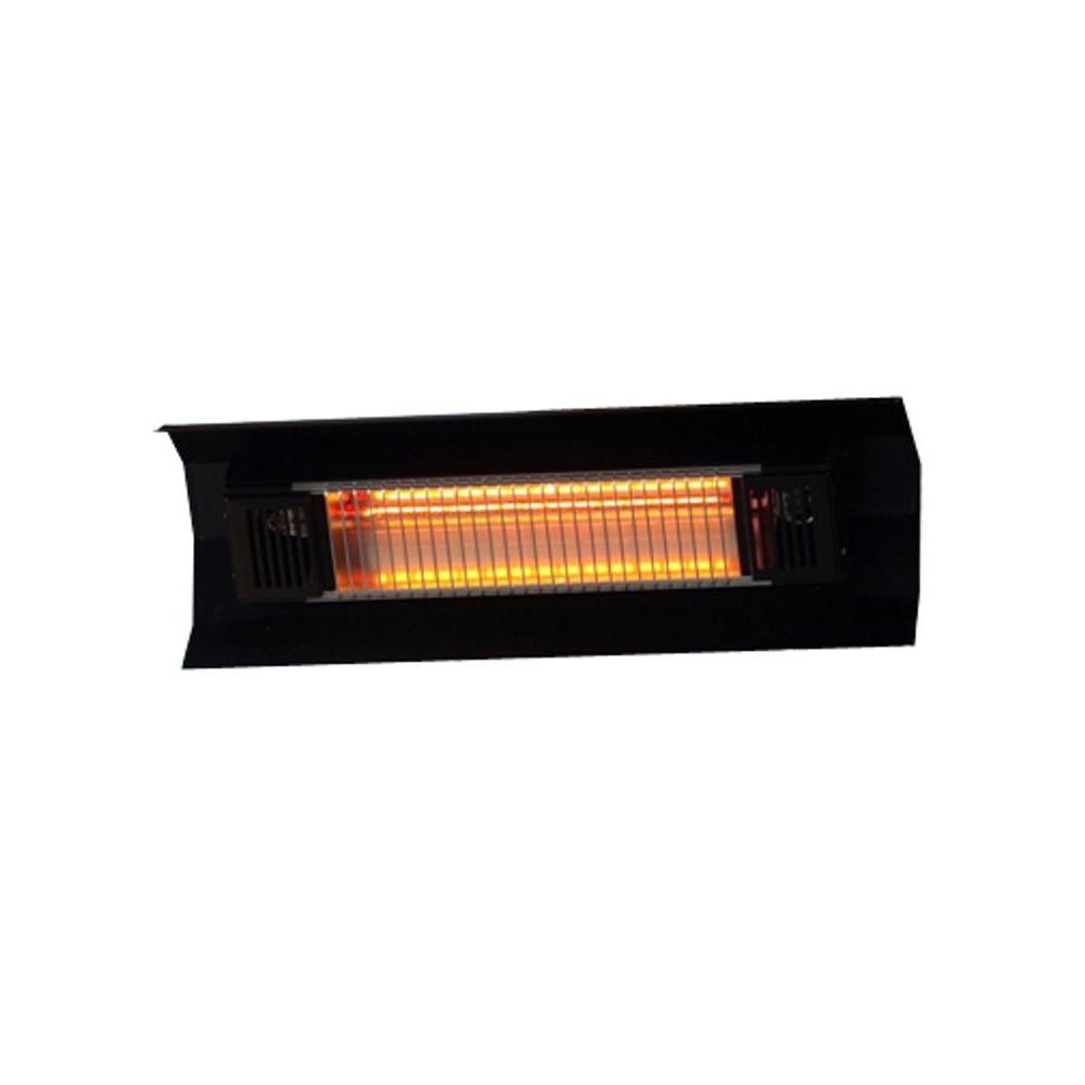 1,500-Watt Black Wall Mounted Infrared Electric Patio Heater
