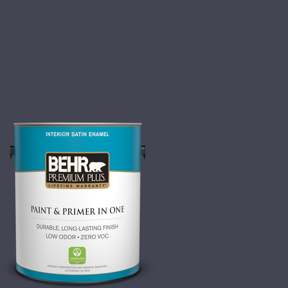 1-gal. #T11-2 Stiletto Zero VOC Satin Enamel Interior Paint