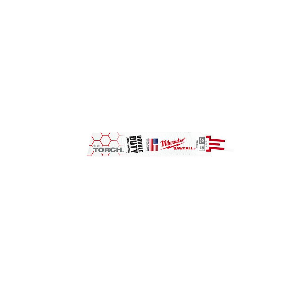 """Milwaukee 48-00-8784 18TPI 6/"""" Torch Double Duty Sawzall Blades 25 pack New"""