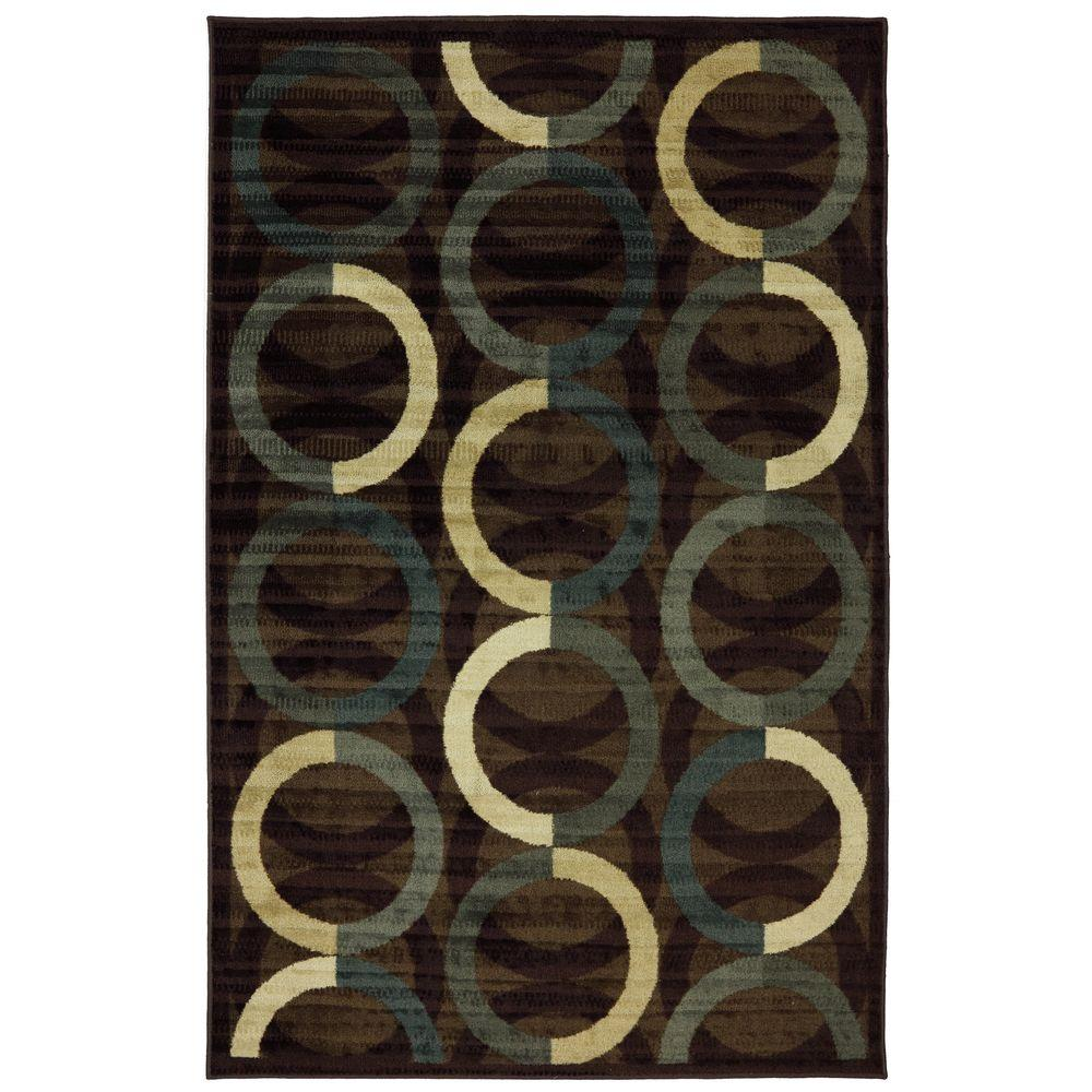 Mohawk Home Ring Rows Mineral 5 ft. x 8 ft. Area Rug