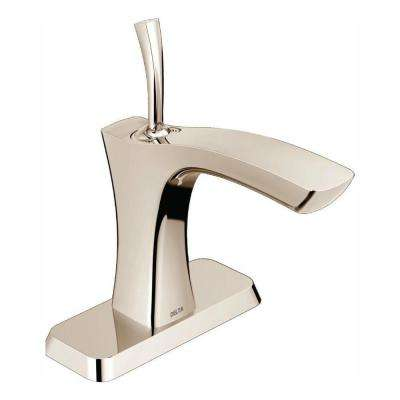 Tesla Single Hole Single-Handle Bathroom Faucet in Polished Nickel