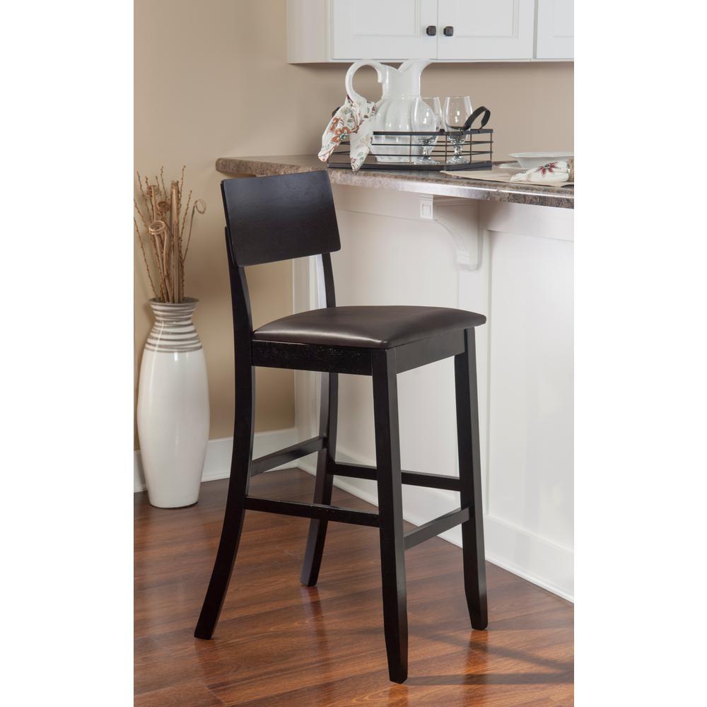 Outstanding Linon Home Decor Torino Contemporary Bar Stool 01855Blk 01 Andrewgaddart Wooden Chair Designs For Living Room Andrewgaddartcom