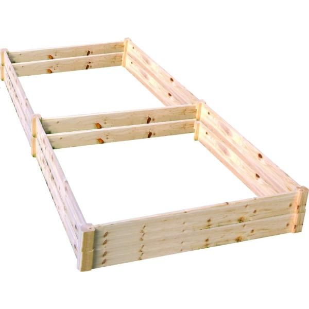 4 ft. x 8 ft. x 11 in. Wood Raised Garden Bed