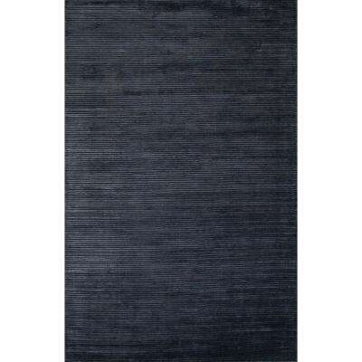 Solids/Handloom Moonlight Blue 9 ft. x 12 ft. Solid Area Rug
