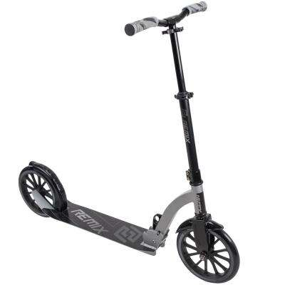Remix Inline Scooter in Gloss Black/Matte Silver with 250 mm Wheels