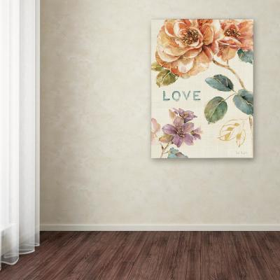 Trademark Fine Art 18 In X 18 In Spiced Nature Xvii Teal Wal By Lisa Audit Printed Canvas Wall Art Wap0578 C1818gg The Home Depot