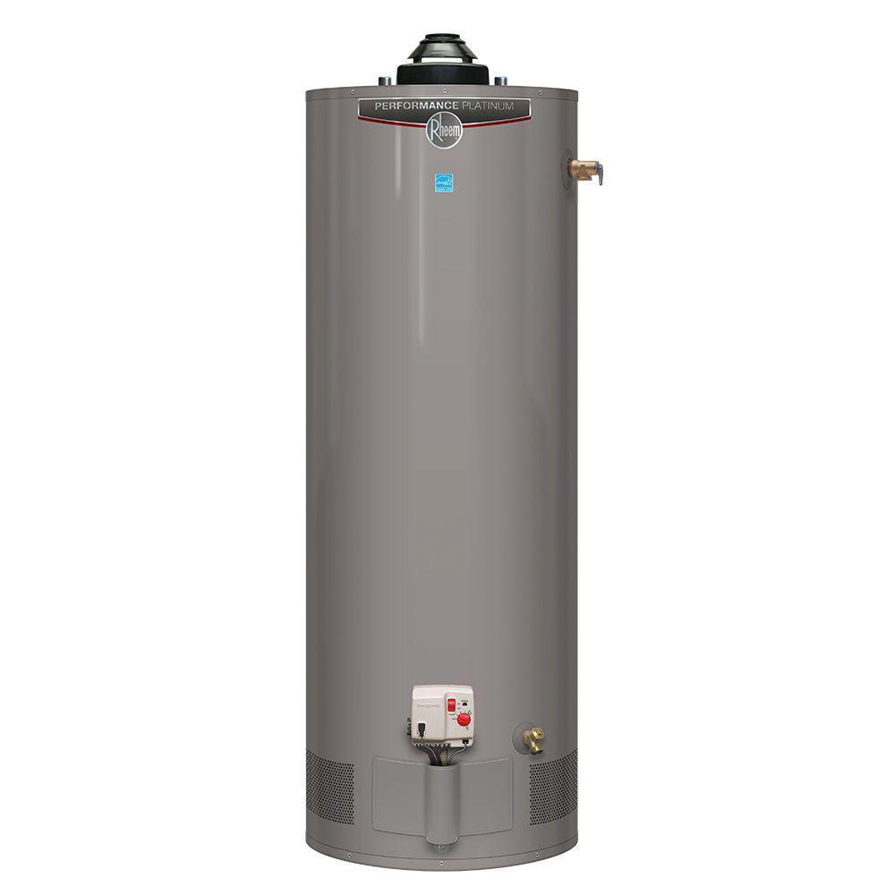 Performance Platinum 50 Gal. Short 12 Year 40,000 BTU Natural Gas Powered Damper ENERGY STAR Water Heater