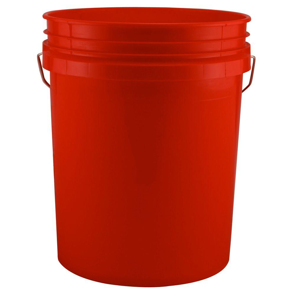 leaktite 5 gal red bucket pack of 3 209333 the home depot