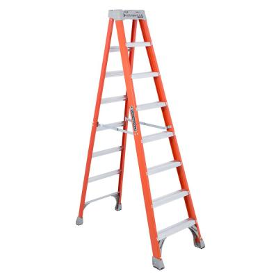 8 ft. Fiberglass Step Ladder (12 ft. Reach) with 300 lbs. Load Capacity, Type IA Duty Rating