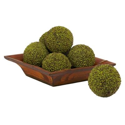 4 in. H Green Berry Ball (Set of 6)